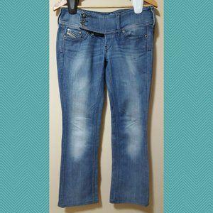 Diesel Cherock Medium Wash Low Rise Boot Cut Jeans